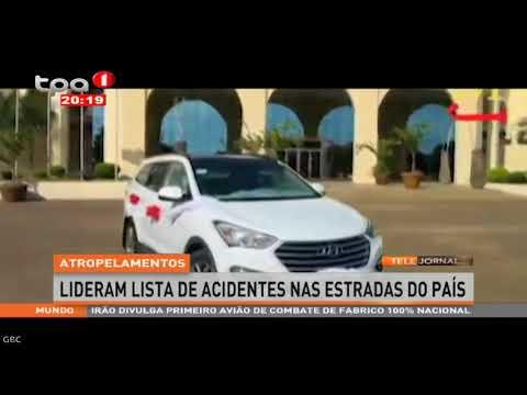 Estradas de Angola com menos 63 acidentes em relação a 2017