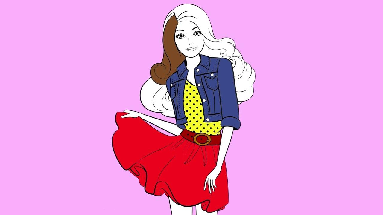 BARBIE dibujos animados  Barbie para colorear Ropa para el