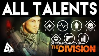 The Division All Talents Explained