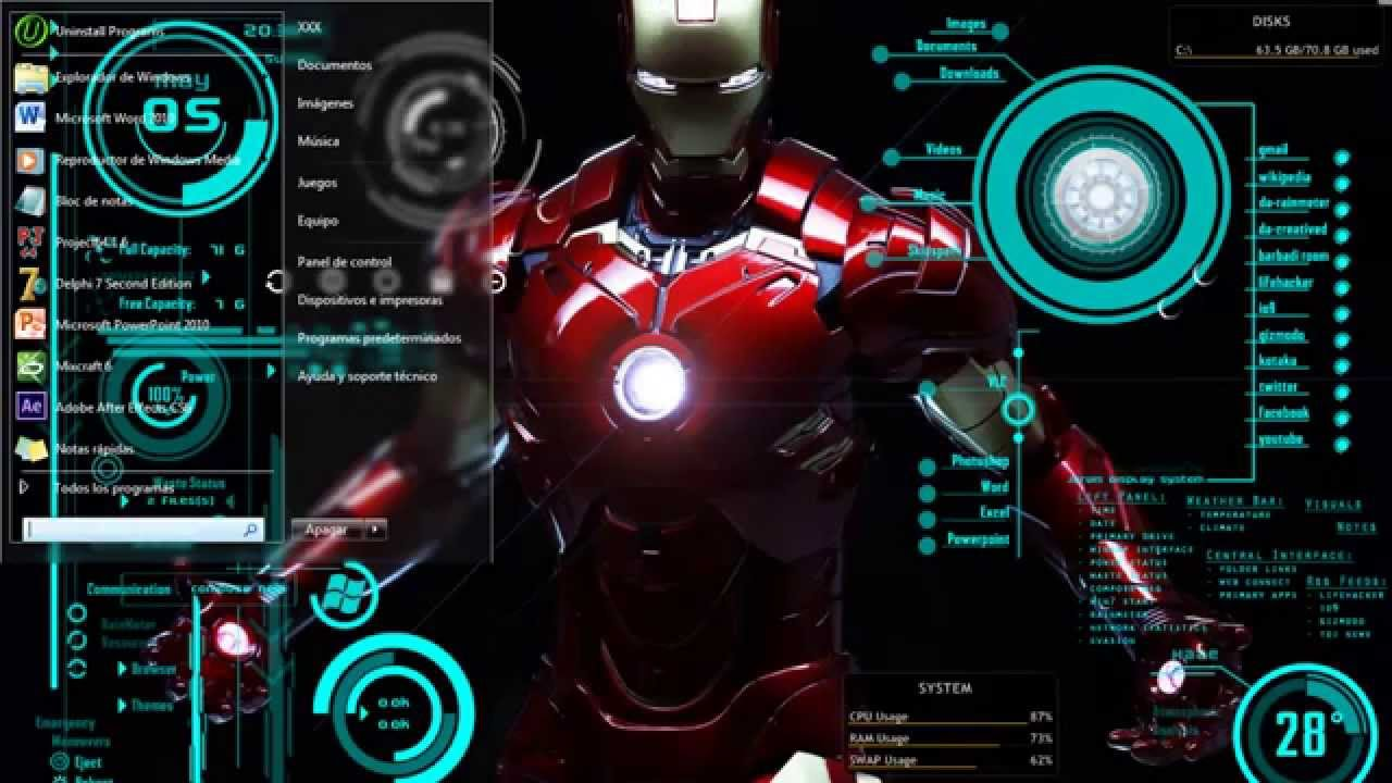 Descargar Iron Man 4 A2zp30: Personalizar Mi Escritorio