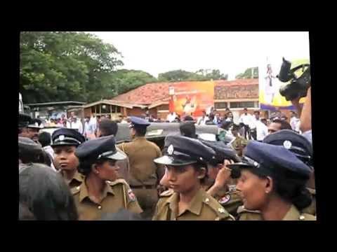 Part 1 - Protest Against Hudson Samarasinghe, Chairman, SLBC 2012 December 02