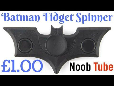 Gold Batman Fidget Spinner £1.00 Cheap Plastic Bat Batarang Unboxing Finger Hand Spin