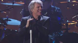 "Bon Jovi perform ""Livin' On A Prayer"" at the 2018 Rock & Roll Hall of Fame Induction Ceremony"