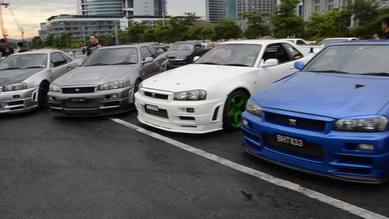 Nissan skyline gathering in malaysia 26 nov 2011 youtube vanachro Gallery