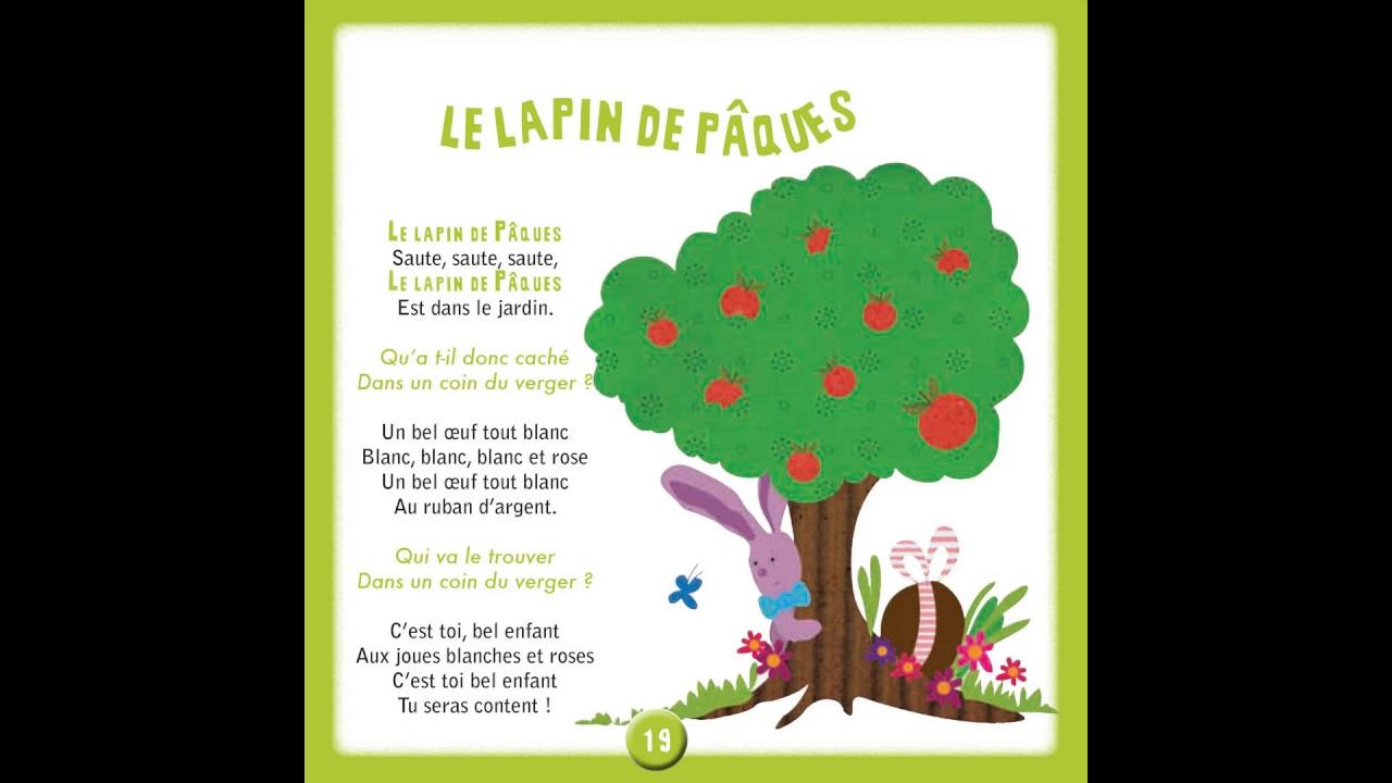 Le Lapin De Pâques 100 Chansons Comptines à Lécole Maternelle