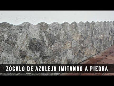 Z calo de azulejo imitando a piedra cerni s l youtube for Zocalos imitacion piedra exteriores