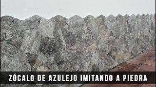 ZÓCALO DE AZULEJO IMITANDO A PIEDRA - Cerni S.L.