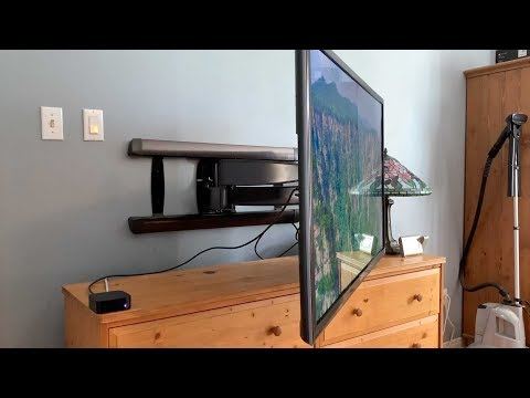 Sanus BLF328 Advanced Full-Motion TV wall mount blogger review