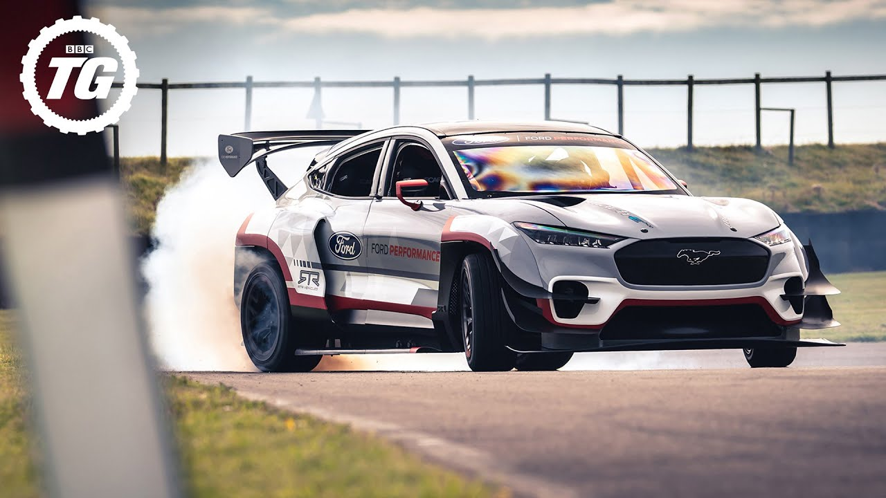 Drifting the all-electric 1,400bhp Ford Mach-E | Top Gear