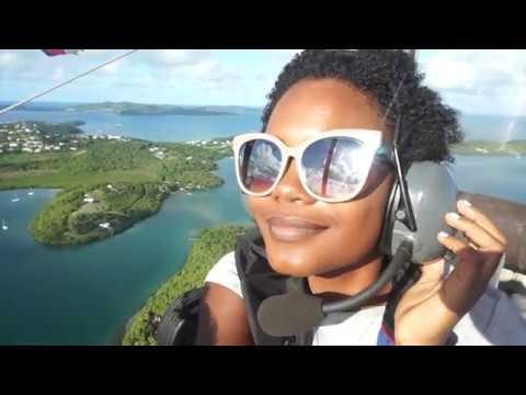 Je fais du bateau volant en Martinique