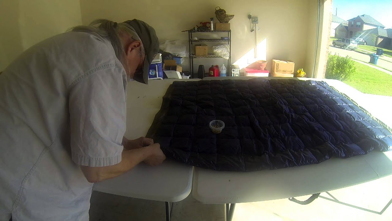costco down throw blanket underquilt build   youtube  rh   youtube