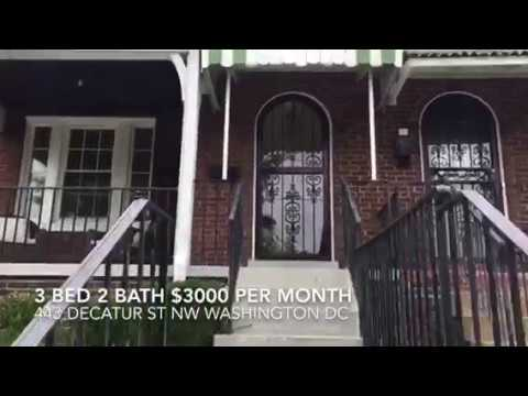 For Rent 443 Decatur St NW Washington DC Asking $3000