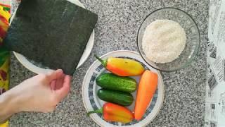Роллы из овощей