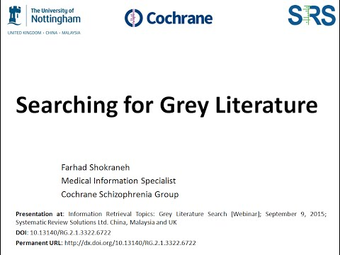 Searching for Grey Literature