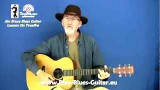 Acoustic Blues Techniques - #4 Scrapper Blackwell - Guitar Lesson - Jim Bruce