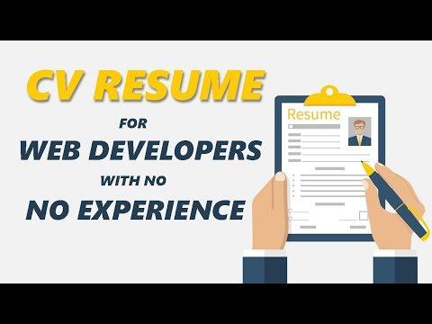 What My Web Developer Resume Looks Like