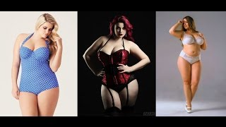 Plus Size Models in Lingerie on the catwalk. It