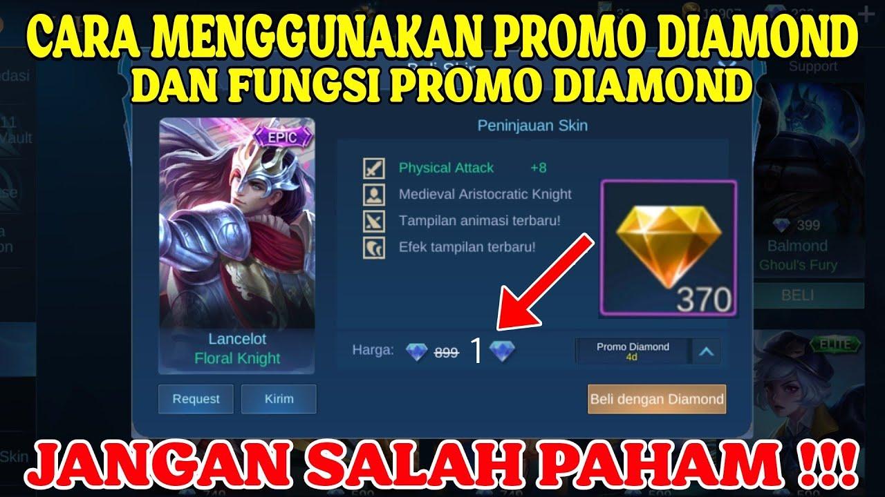 Cara Menggunakan Promo Diamond Dan Fungsinya Youtube