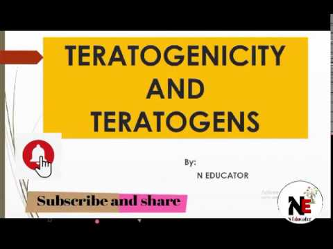Teratogens and Teratogenicity