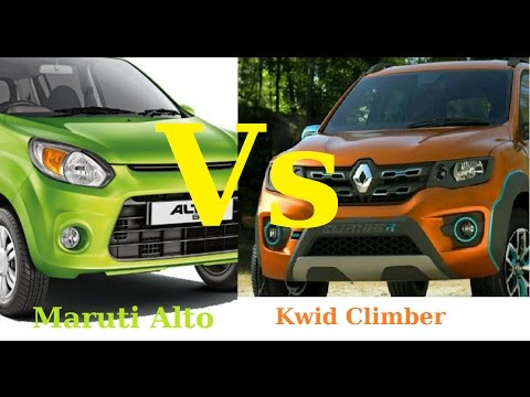 Maruti Alto 800 Vs Renault Kwid Climber | Comparison Video Interior and Exterior