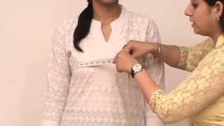 Repeat youtube video How to take body measurements for WOMEN's ETHNIC WEAR