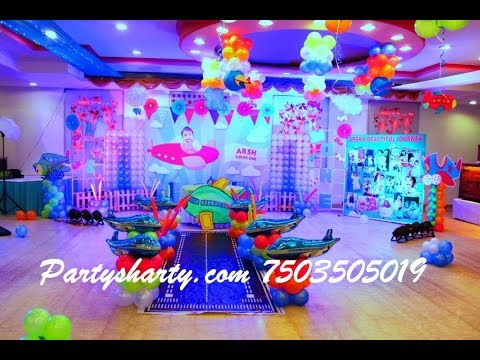 Aeroplane themed birthday party YouTube