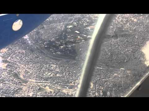 Flying over amman jordan