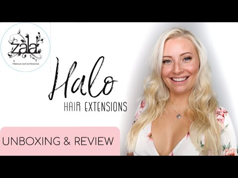 WOW!! ZALA HALO HAIR EXTENSIONS | FIRST IMPRESSION UNBOXING \u0026 REVIEW | TUTORIAL | BEING MRS DUDLEY