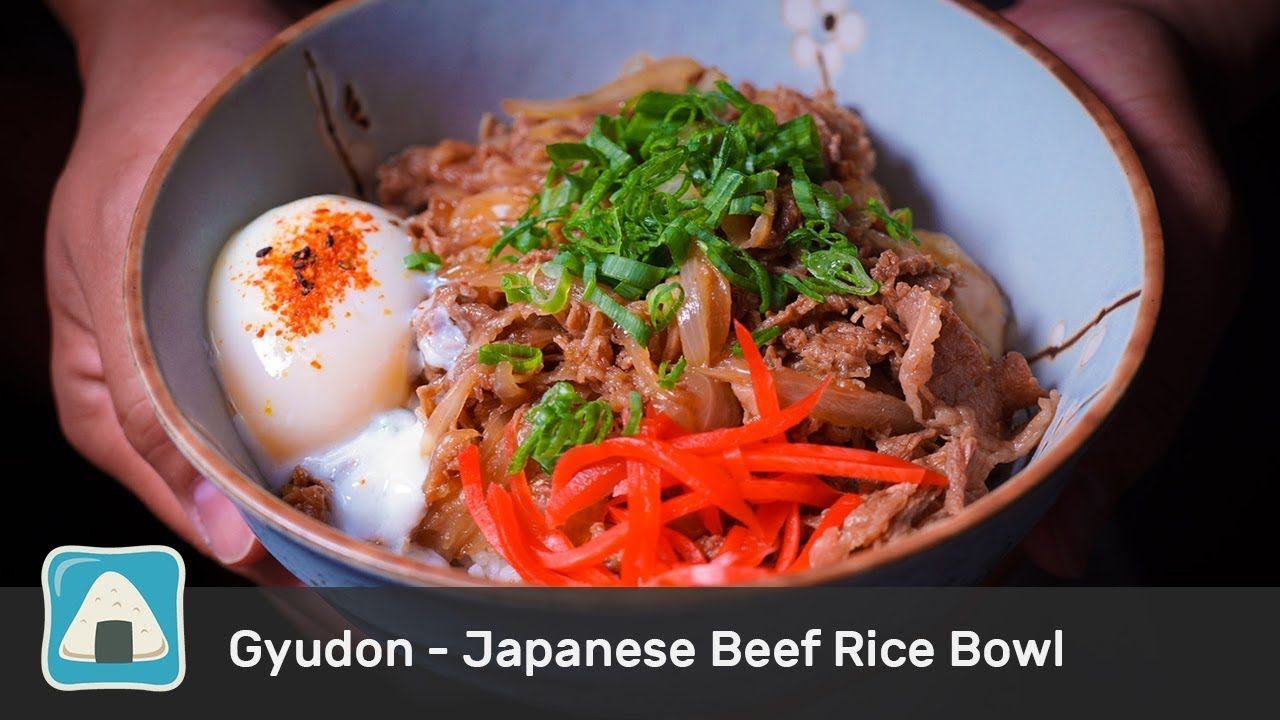 Japanese Beef Rice Bowl Recipe - Gyudon - YouTube
