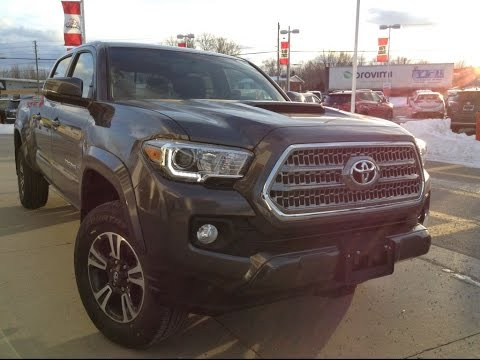 New 2017 Toyota Tacoma Dbl Cab Trd Sport Review Magnetic Grey 1000 Islands Brockville
