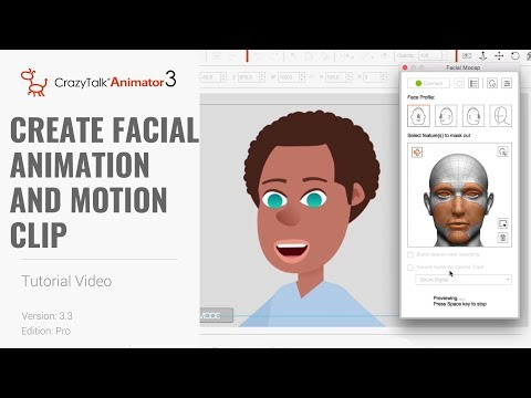 Cartoon Animator 4 Facial Mocap Tutorial - 04/05 Create Facial Animation And Motion Clip