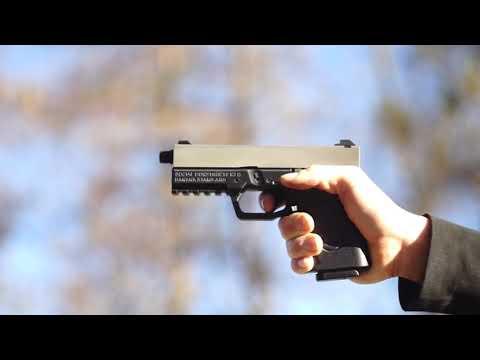 3D Printed Glock 19 with Suppressor, Banana Standard