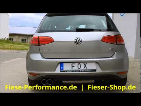 vw golf 7 fox sportauspuff exhaust by fiese performance. Black Bedroom Furniture Sets. Home Design Ideas