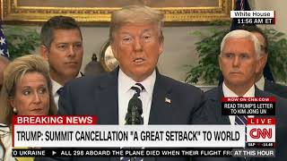 Trump on Cancelled Summit: 'This Is a Tremendous Setback for North Korea,' the World