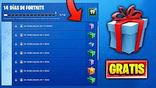 COMO CONSEGUIR 14 REGALOS GRATIS en FORTNITE! de FORTNITE Battle Royale | TEMPORADA 7