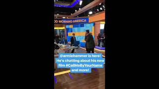 Armie Hammer Good Morning America instagram story mix 11/17/2017 call me by your name