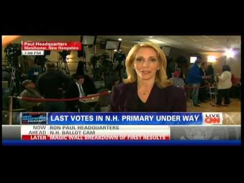 CNN 2012 New Hampshire Republican Primary Coverage Part 1
