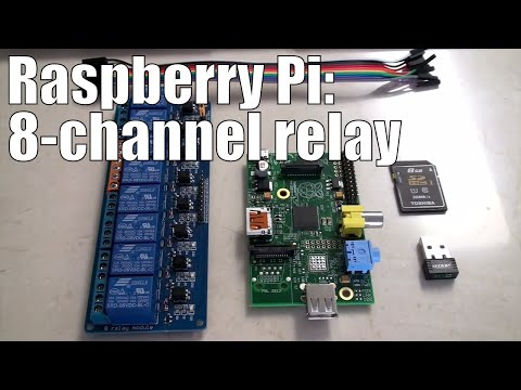 Raspberry Pi: 8 Channel Relay step-by-step with software examples