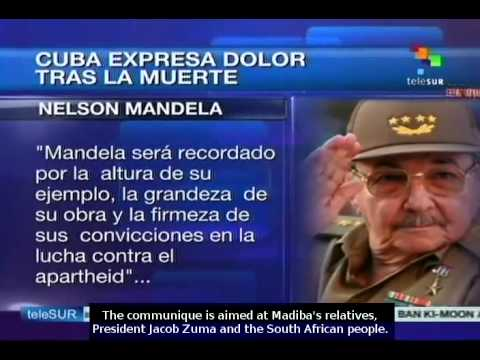 Cuban government expresses its grief over Mandela's death