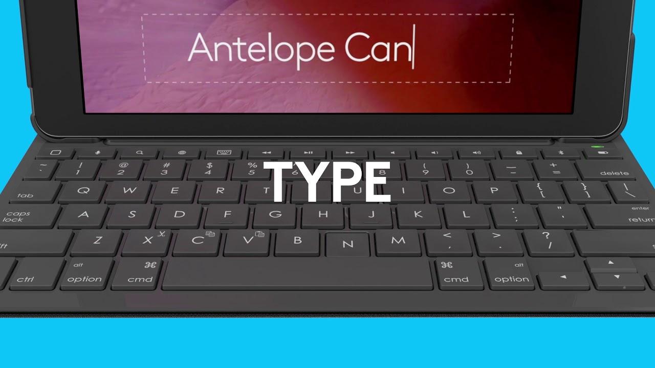 6d5278f2bde2 Logitech Slim Folio keyboard case for iPad (5th and 6th generation ...
