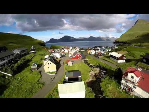 Islas Feroe desde el aire (agosto)
