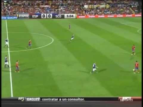 Spain Scotland Silva goal in 6th min probably the best team goal ever