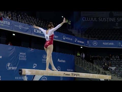 Dalia Al-Salty BB Qual 2017 European Gymnastics Championships