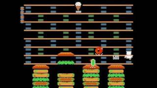 Nintendo (NES) BurgerTime Perfect Run Levels 4 to 9