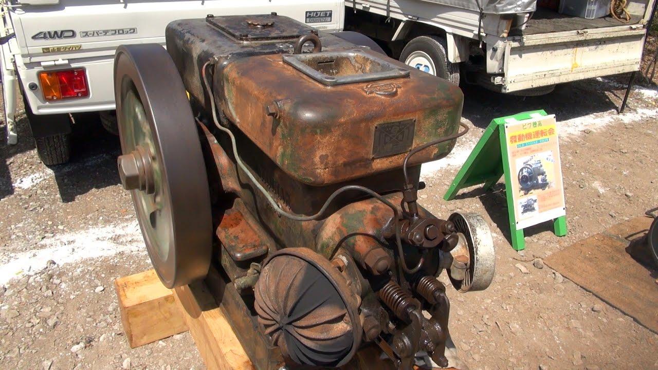 Old Engines in Japan 1950s YANMAR Diesel Type N10 11hp part2
