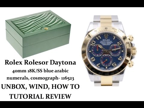 ▶ Rolex Daytona Two-Tone Yellow Gold, Blue Dial, Arabic Numerals UNBOXING & REVIEW - 40mm, 116523