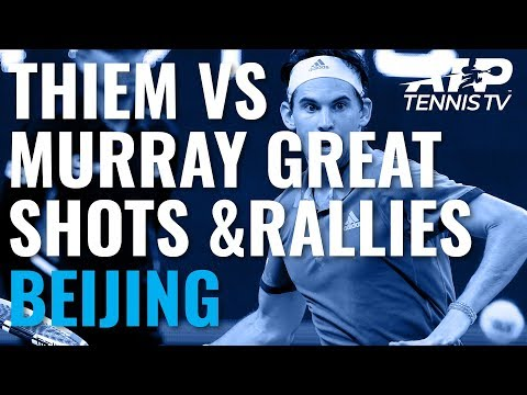 Brilliant Rallies And Match Point From Dominic Thiem vs Andy Murray | Beijing 2019