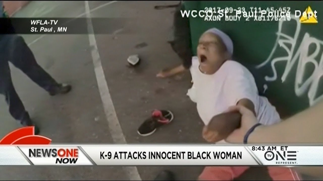police k 9 attacks innocent black woman youtube