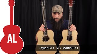 Martin LX1 vs Baby Taylor - A Travel Guitar Comparison