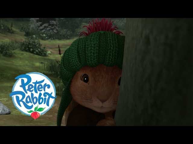 Peter Rabbit: at the squirrel's camp.